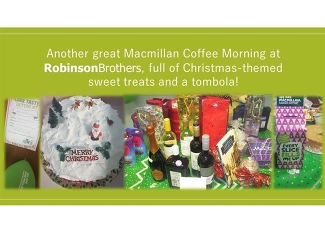 Robinson Brothers hosts a festive Macmillan Coffee Morning