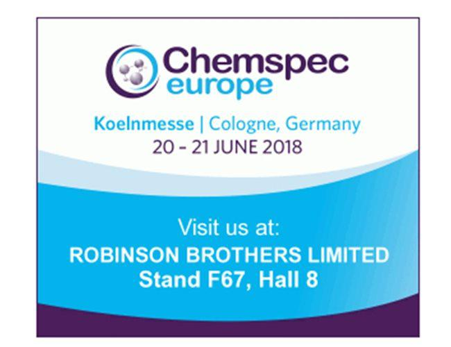 Meet us at Chemspec Europe 2018