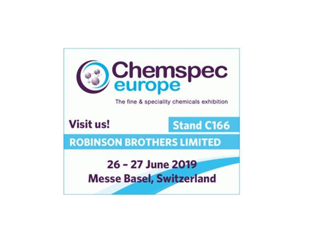 Meet us at Chemspec Europe 2019