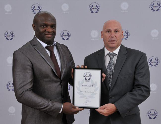 Robinson Brothers is awarded the RoSPA Silver Award for Health and Safety Practices
